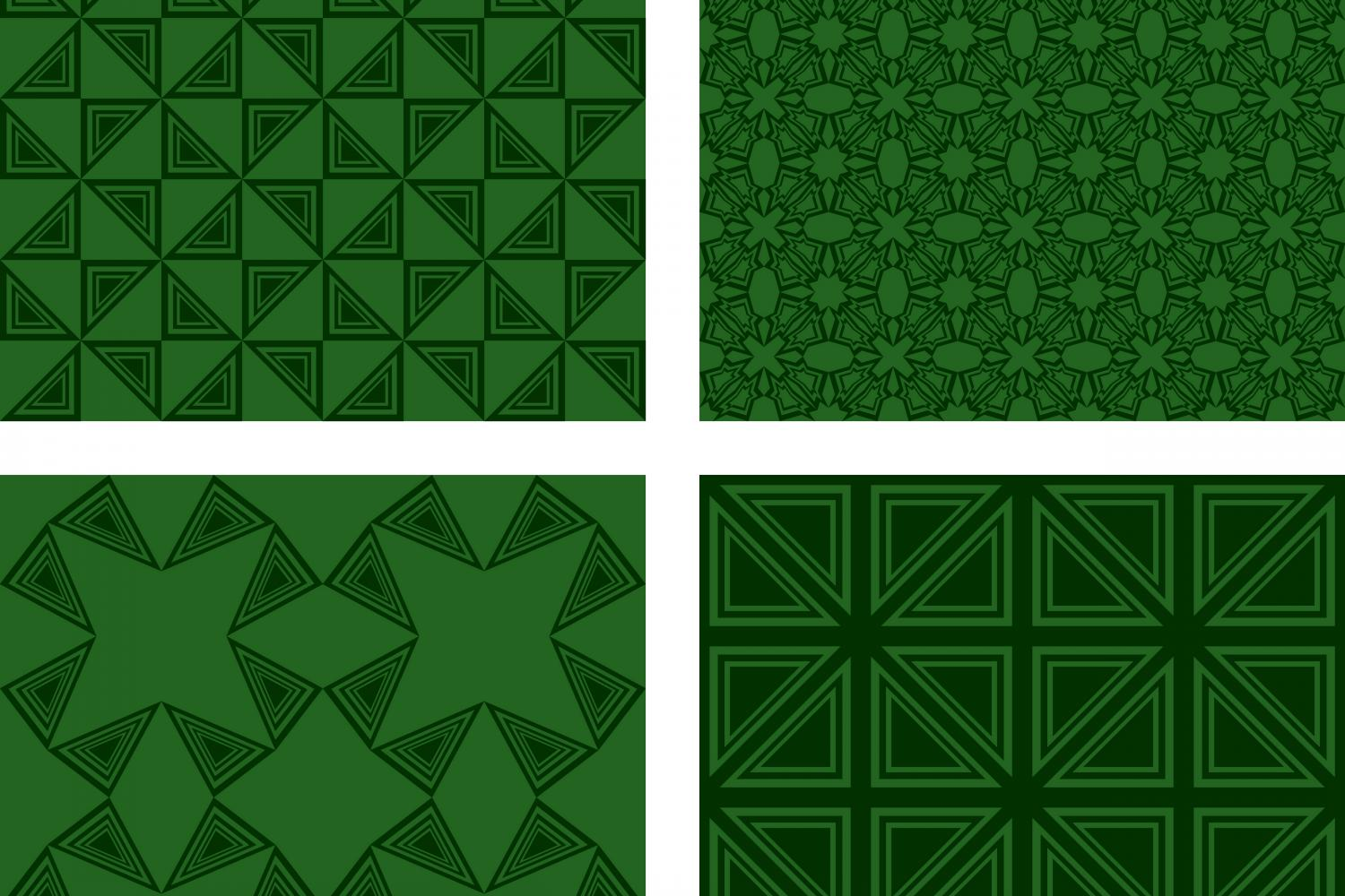 Download Free 4 Green Seamless Geometric Patterns Graphic By Davidzydd for Cricut Explore, Silhouette and other cutting machines.