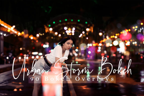 Print on Demand: 90 Urban Storm Bokeh Overlays Graphic Backgrounds By 3Motional