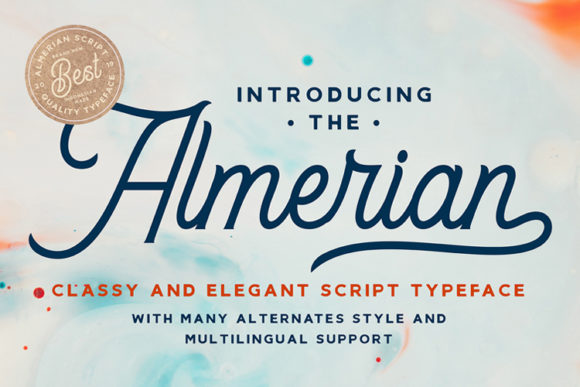 Print on Demand: Almerian Script & Handwritten Font By Ngene