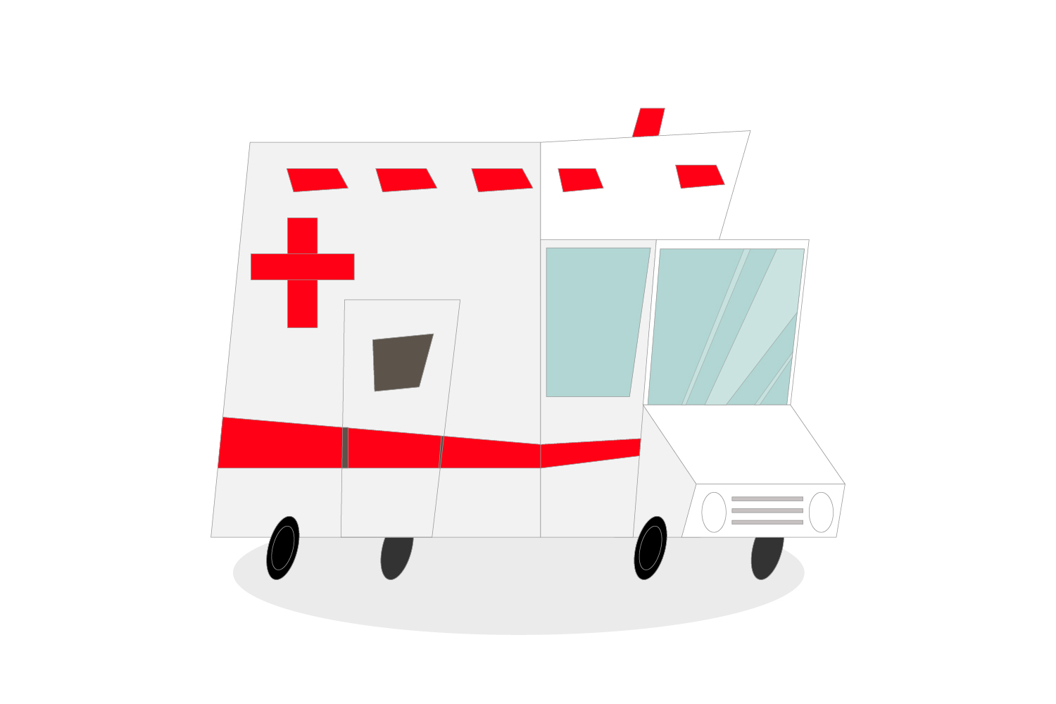 Download Free Ambulance Car Line Vector Graphic By Igraphic Studio Creative for Cricut Explore, Silhouette and other cutting machines.