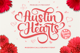 Print on Demand: Austin Hearts Script & Handwritten Font By Holydie Studio