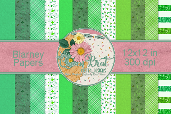 Print on Demand: Blarney Papers Graphic Backgrounds By QueenBrat Digital Designs