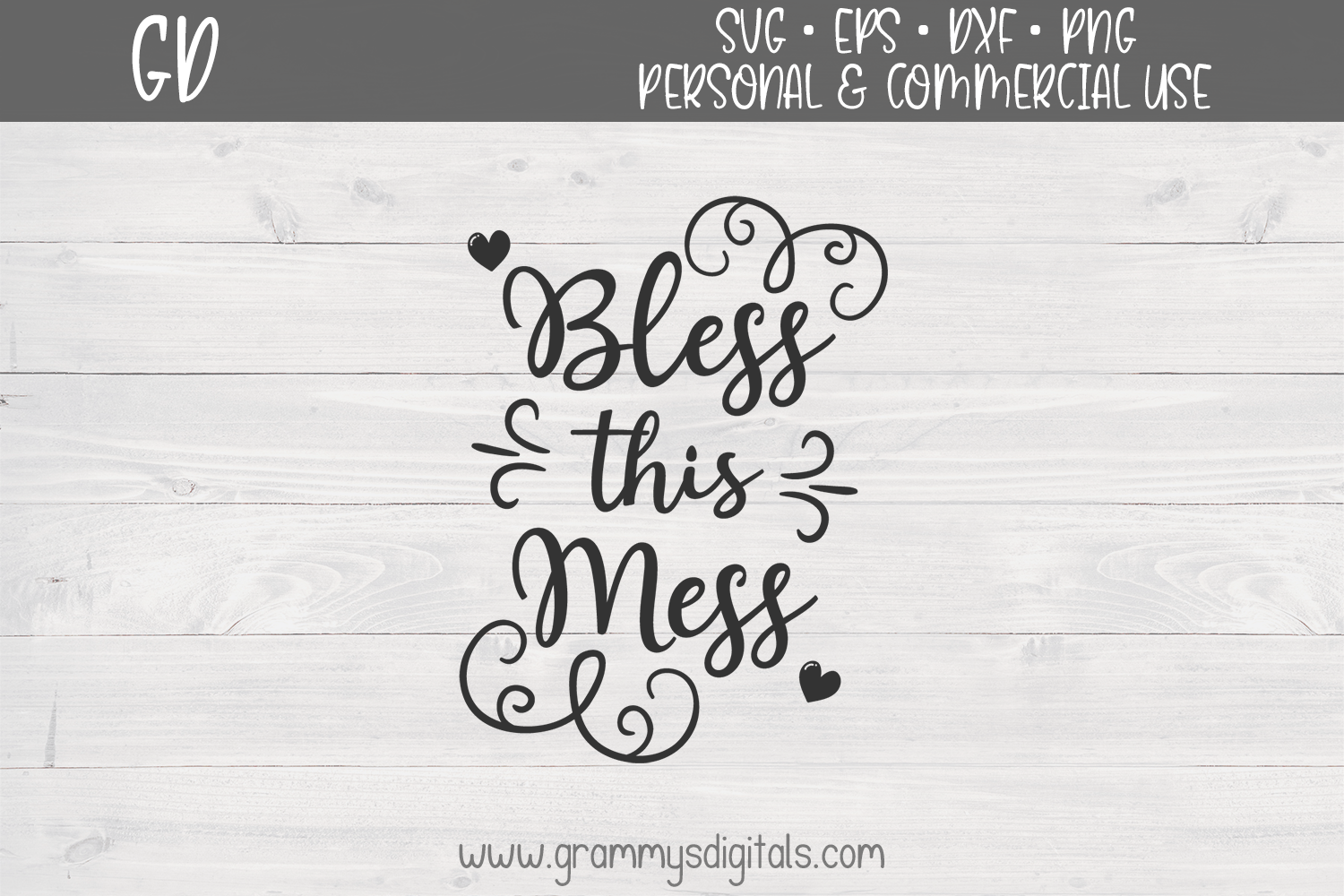 Download Free Bless This Mess Graphic By Grammy S Digitals Creative Fabrica for Cricut Explore, Silhouette and other cutting machines.