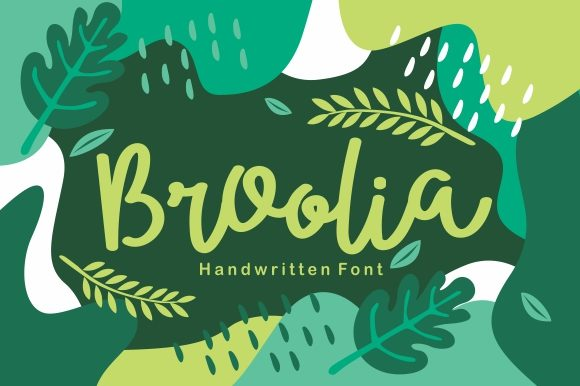 Print on Demand: Broolia Script & Handwritten Font By EKNOJI