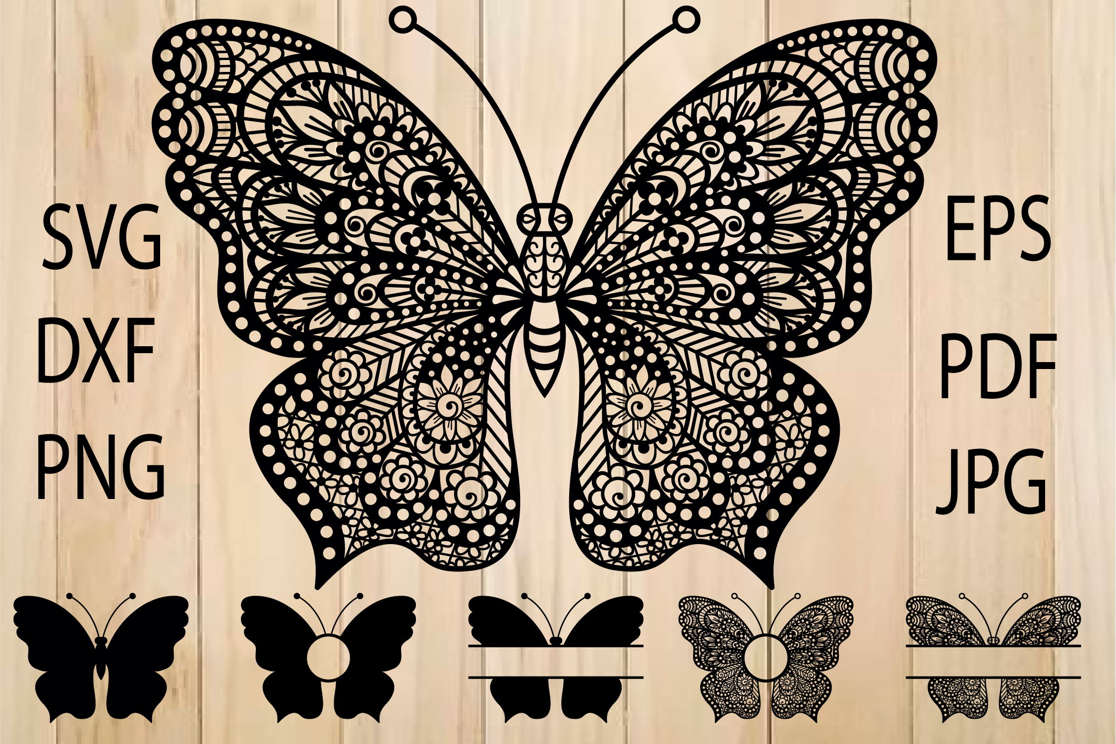 Download Free Butterfly Graphic By Yulnniya Creative Fabrica for Cricut Explore, Silhouette and other cutting machines.