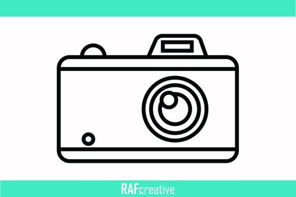 Print on Demand: Camera Icon Graphic Icons By rafcreative3