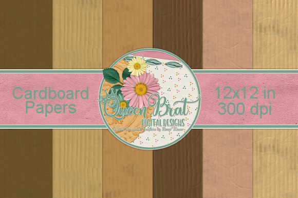 Print on Demand: Cardboard Papers Graphic Backgrounds By QueenBrat Digital Designs