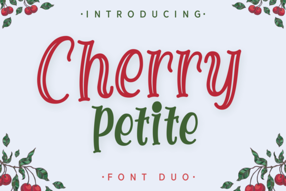 Print on Demand: Cherry Petite Display Font By Dani (7NTypes)