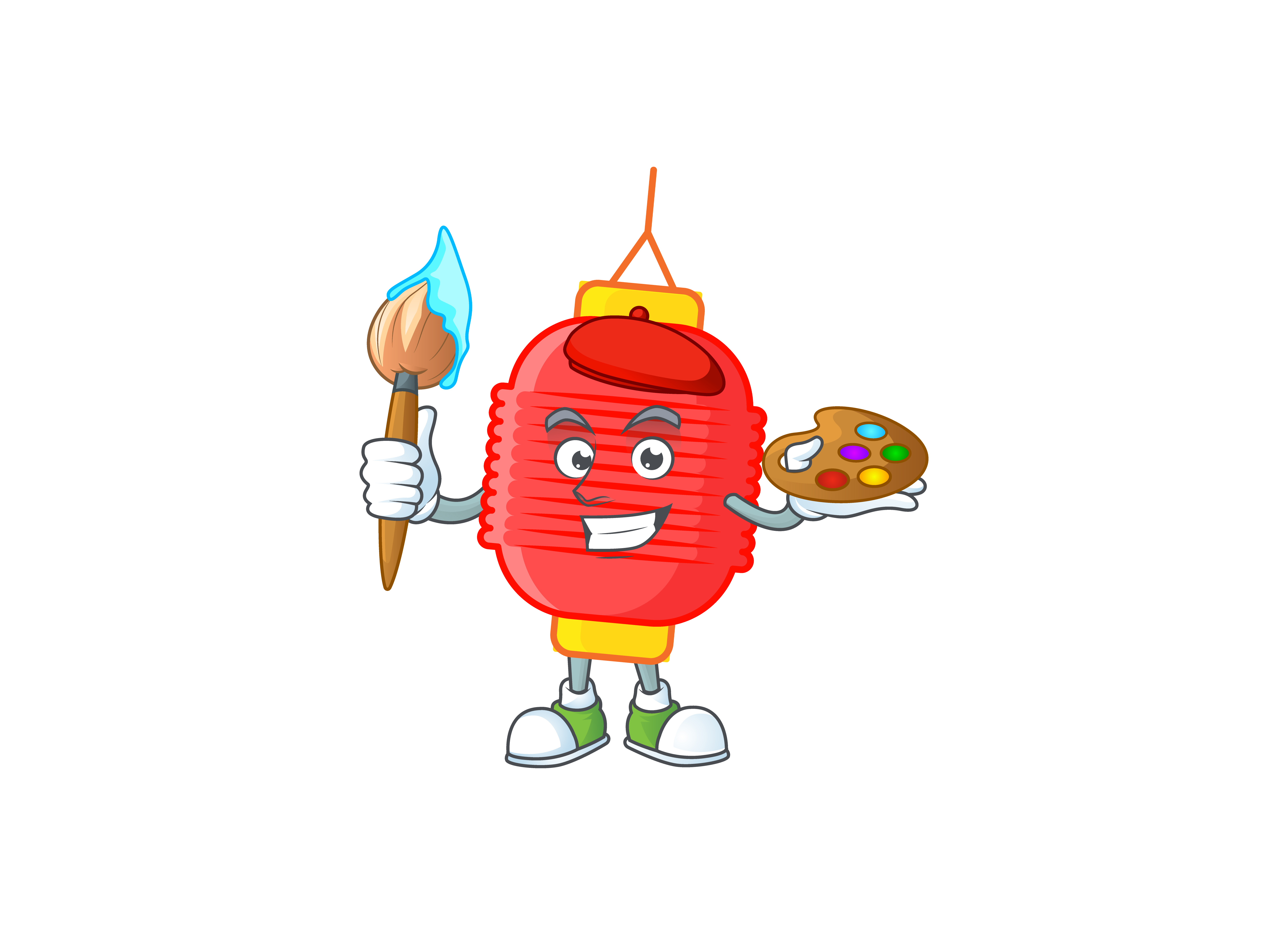 Download Free Chinese Lantern Cartoon Character Style Graphic By Kongvector2020 Creative Fabrica for Cricut Explore, Silhouette and other cutting machines.