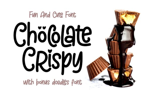 Print on Demand: Chöcolate Crispy Display Schriftarten von ergibi studio