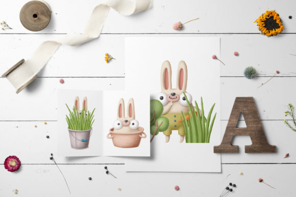 Print on Demand: Collection of Rabbits Graphic Illustrations By Architekt_AT - Image 2