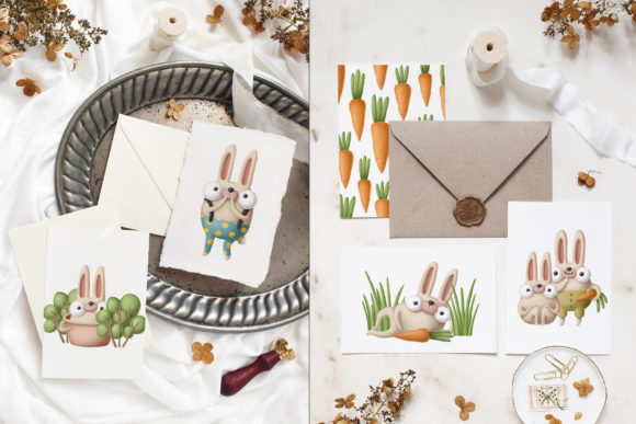 Print on Demand: Collection of Rabbits Graphic Illustrations By Architekt_AT - Image 5
