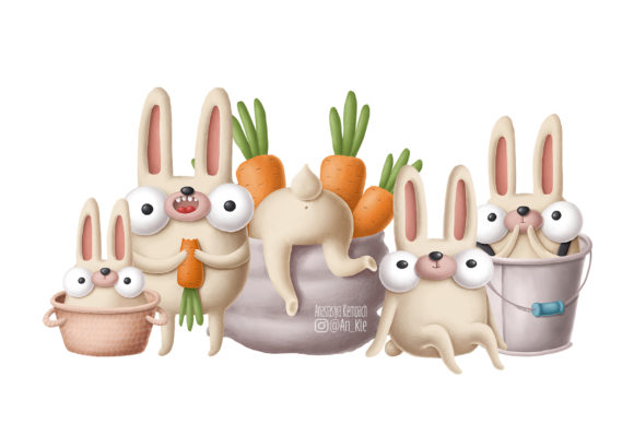 Print on Demand: Collection of Rabbits Graphic Illustrations By Architekt_AT - Image 7