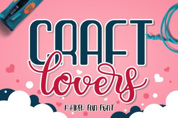 Print on Demand: Craft Lovers Script & Handwritten Font By HansCo