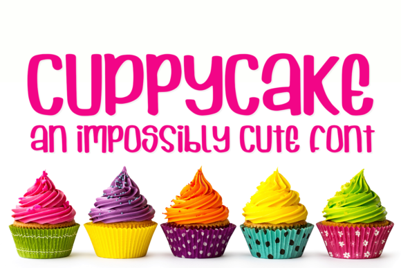 Print on Demand: Cuppycake Display Schriftarten von amber_nest