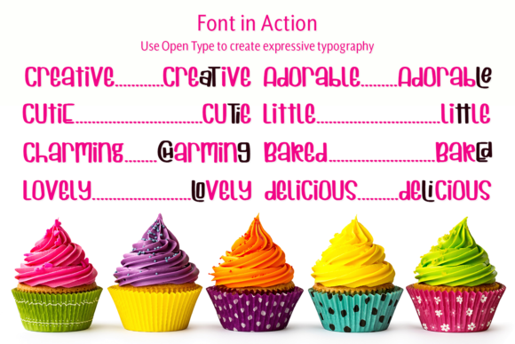 Print on Demand: Cuppycake Display Font By amber_nest - Image 10