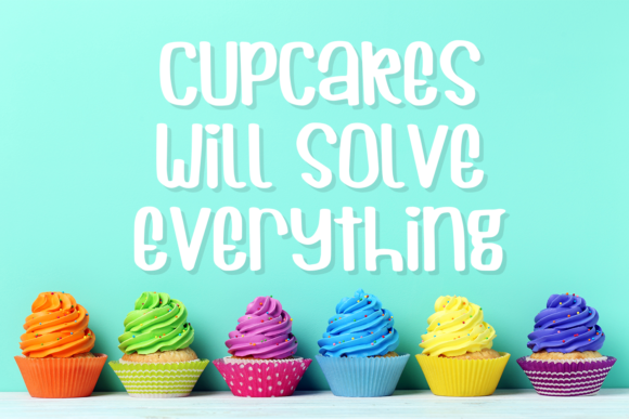 Print on Demand: Cuppycake Display Font By amber_nest - Image 2