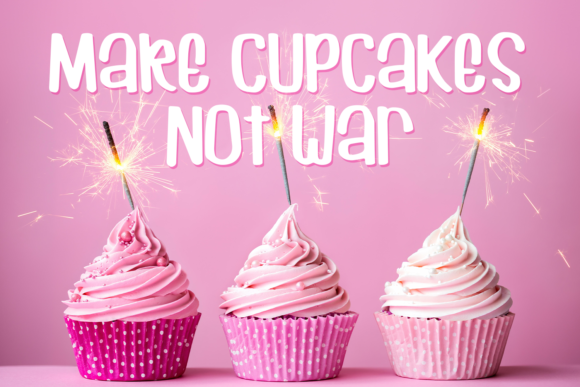 Print on Demand: Cuppycake Display Font By amber_nest - Image 4