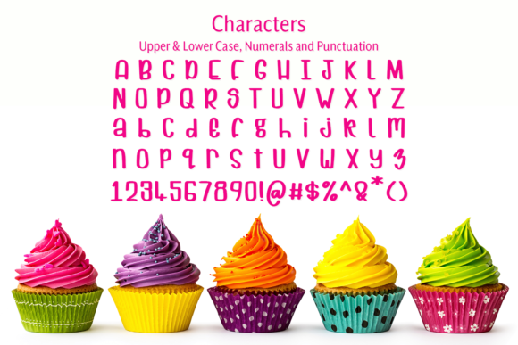 Print on Demand: Cuppycake Display Font By amber_nest - Image 7