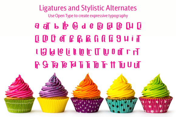 Print on Demand: Cuppycake Display Font By amber_nest - Image 9