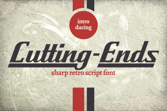 Print on Demand: Cutting-Ends Script & Handwritten Font By Vunira