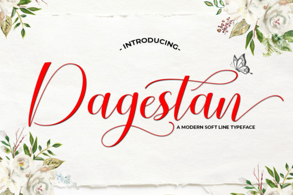 Print on Demand: Dagestan Script Script & Handwritten Font By softcreative50