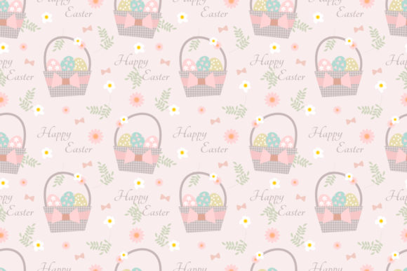 Download Free Easter Eggs Basket Seamless Pattern Graphic By Thanaporn Pinp for Cricut Explore, Silhouette and other cutting machines.