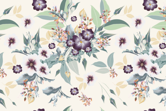 Floral Pattern with Realistic Flowers Graphic Patterns By fleurartmariia