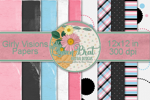 Print on Demand: Girly Vision Backgrounds Graphic Backgrounds By QueenBrat Digital Designs