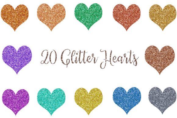 Download Free Glitter Heart Clipart Sparkles Heart Graphic By Bonadesigns for Cricut Explore, Silhouette and other cutting machines.