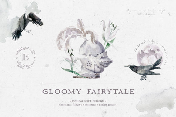 Print on Demand: Gloomy Fairytale Graphic Collection Graphic Objects By dinkoobraz - Image 1