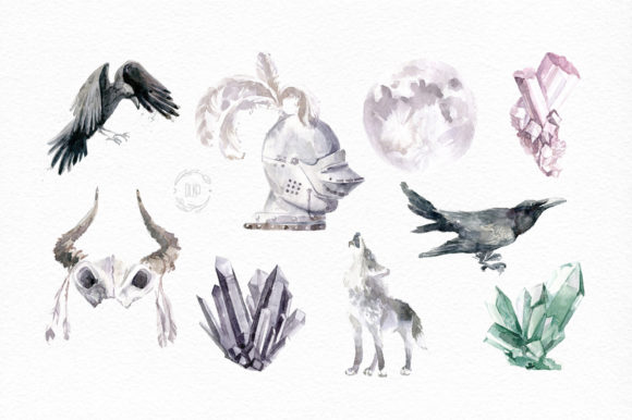 Print on Demand: Gloomy Fairytale Graphic Collection Graphic Objects By dinkoobraz - Image 7