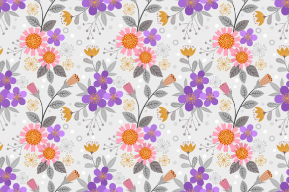 Hand Draw Flowers Seamless Pattern. Graphic Patterns By ranger262