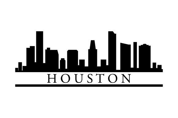 Download Free Houston Skyline Graphic By Marco Livolsi2014 Creative Fabrica for Cricut Explore, Silhouette and other cutting machines.