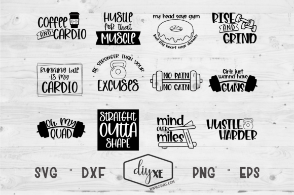 Download Free Huge Fitness Bundle Graphic By Sheryl Holst Creative Fabrica for Cricut Explore, Silhouette and other cutting machines.