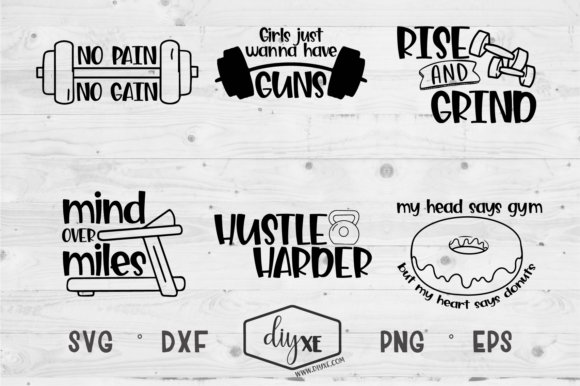 Download Free Hustle Harder Bundle Graphic By Sheryl Holst Creative Fabrica for Cricut Explore, Silhouette and other cutting machines.