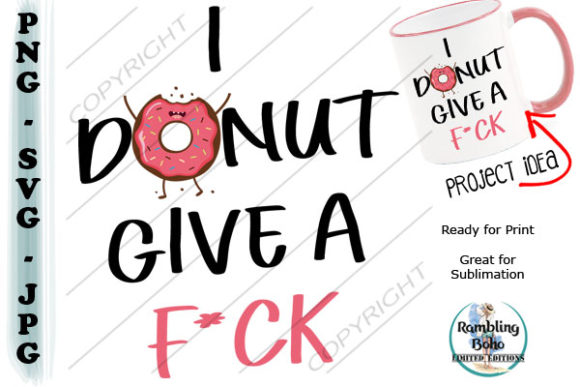 I Donut Graphic Illustrations By RamblingBoho