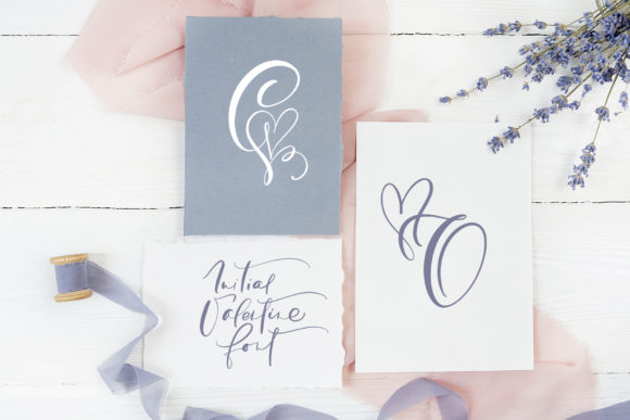 Download Free Initial Valentine Font By Happy Letters Creative Fabrica for Cricut Explore, Silhouette and other cutting machines.