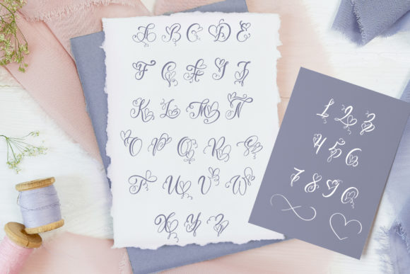 Print on Demand: Initial Valentine Script & Handwritten Font By Happy Letters - Image 3