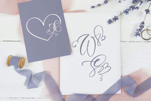 Print on Demand: Initial Valentine Script & Handwritten Font By Happy Letters - Image 4