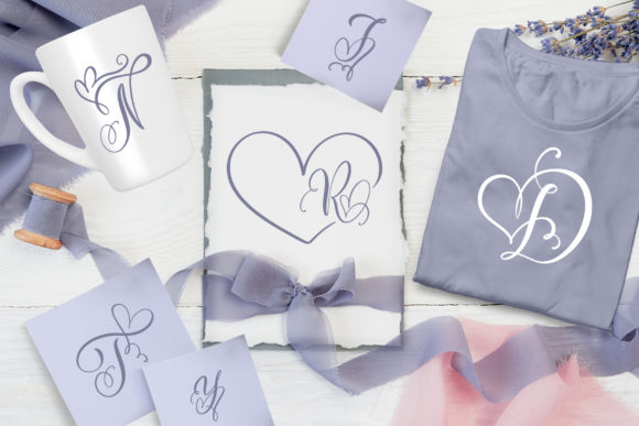Print on Demand: Initial Valentine Script & Handwritten Font By Happy Letters - Image 5