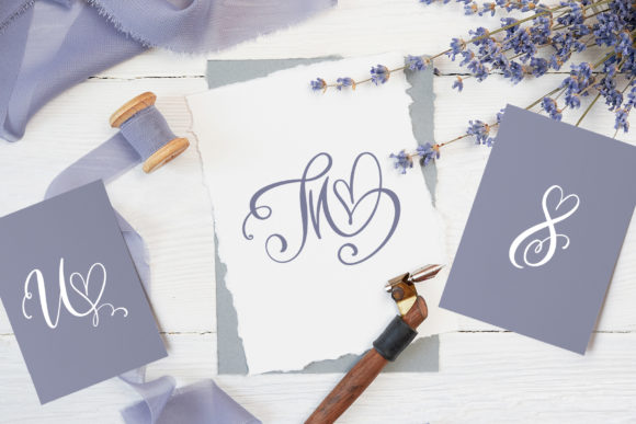 Print on Demand: Initial Valentine Script & Handwritten Font By Happy Letters - Image 7