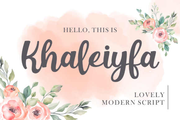 Print on Demand: Khaleiyfa Script & Handwritten Font By figuree studio
