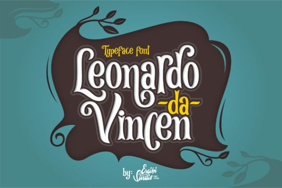 Print on Demand: Leonardo Da Vincen Display Schriftarten von ergibi studio