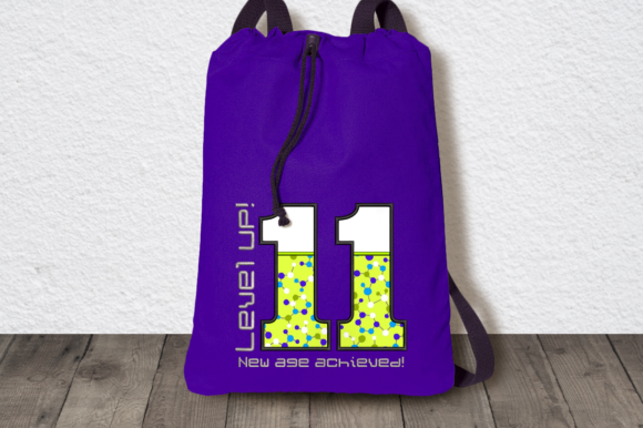 Level Up 11th Birthday Applique Birthdays Embroidery Design By DesignedByGeeks - Image 1