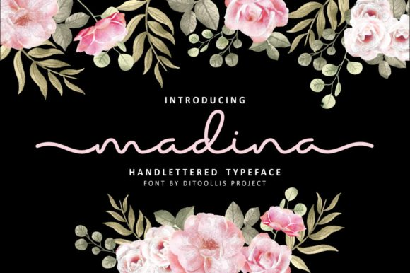 Print on Demand: Madina Script & Handwritten Font By Ditoollis Project