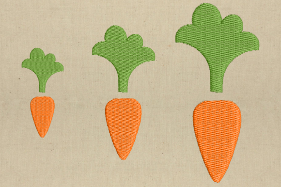 Mini Carrot Easter Embroidery Design By DesignedByGeeks - Image 2