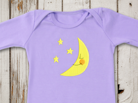 Mini Moon and Stars Nursery Embroidery Design By DesignedByGeeks
