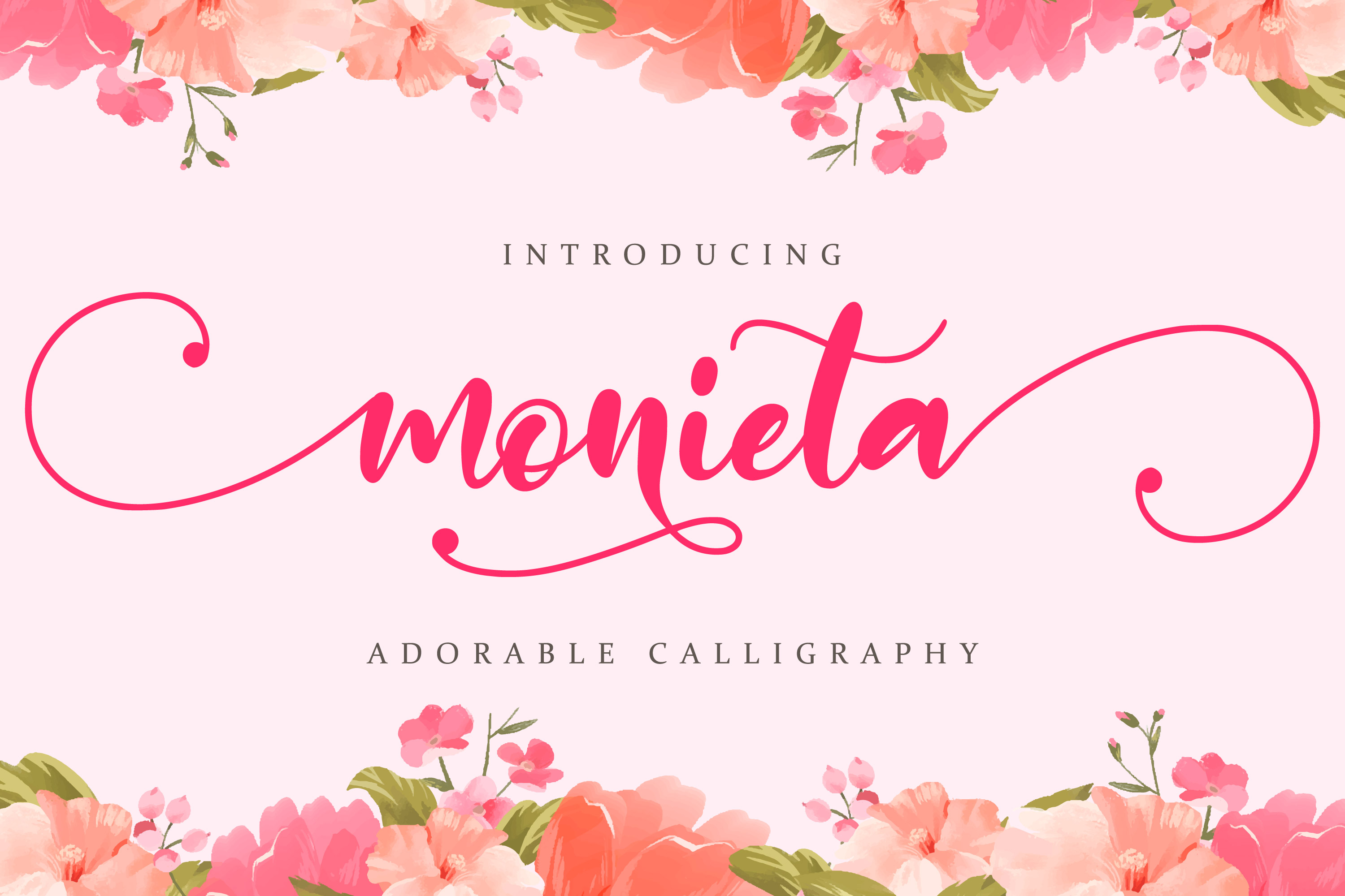Download Free Monieta Font By Almarkhatype Creative Fabrica for Cricut Explore, Silhouette and other cutting machines.