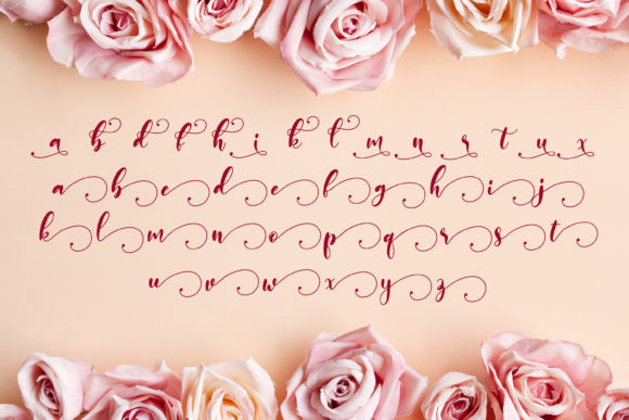Print on Demand: Monieta Script & Handwritten Font By almarkhatype - Image 10